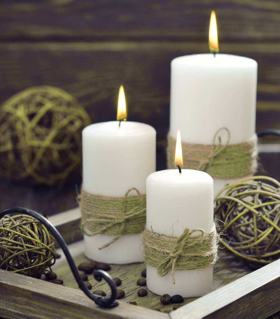 Vintage Decorated Candle Ideas
