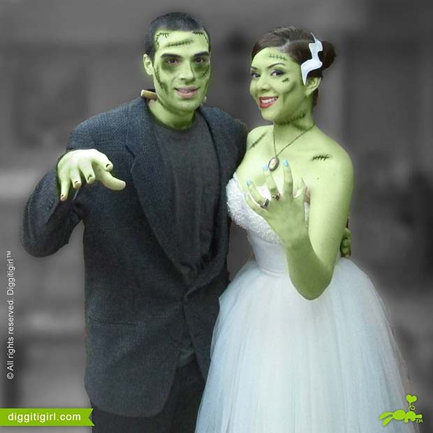 Frankenstein and Bride of Frankenstein for Halloween Costume Ideas for Couples