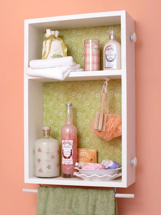 diy bathroom-wall-mini-storage-unit