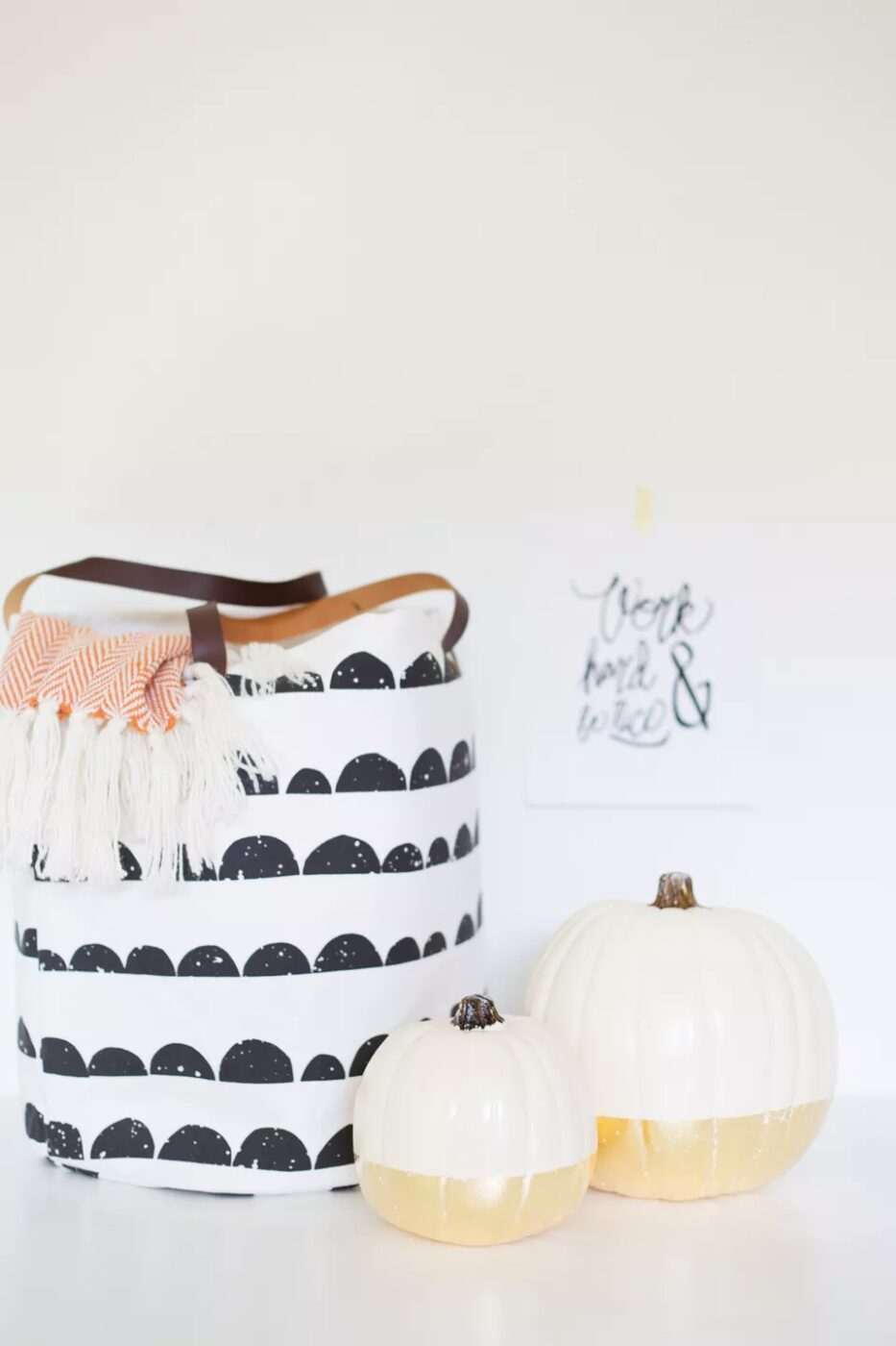 DIY Gold Dipped Pumpkins