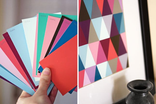 15 Cool DIY Crafts With Paint Chips