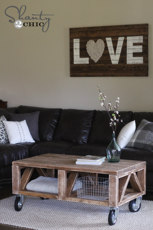 DIY Truss Farmhouse Coffee Table Ideas