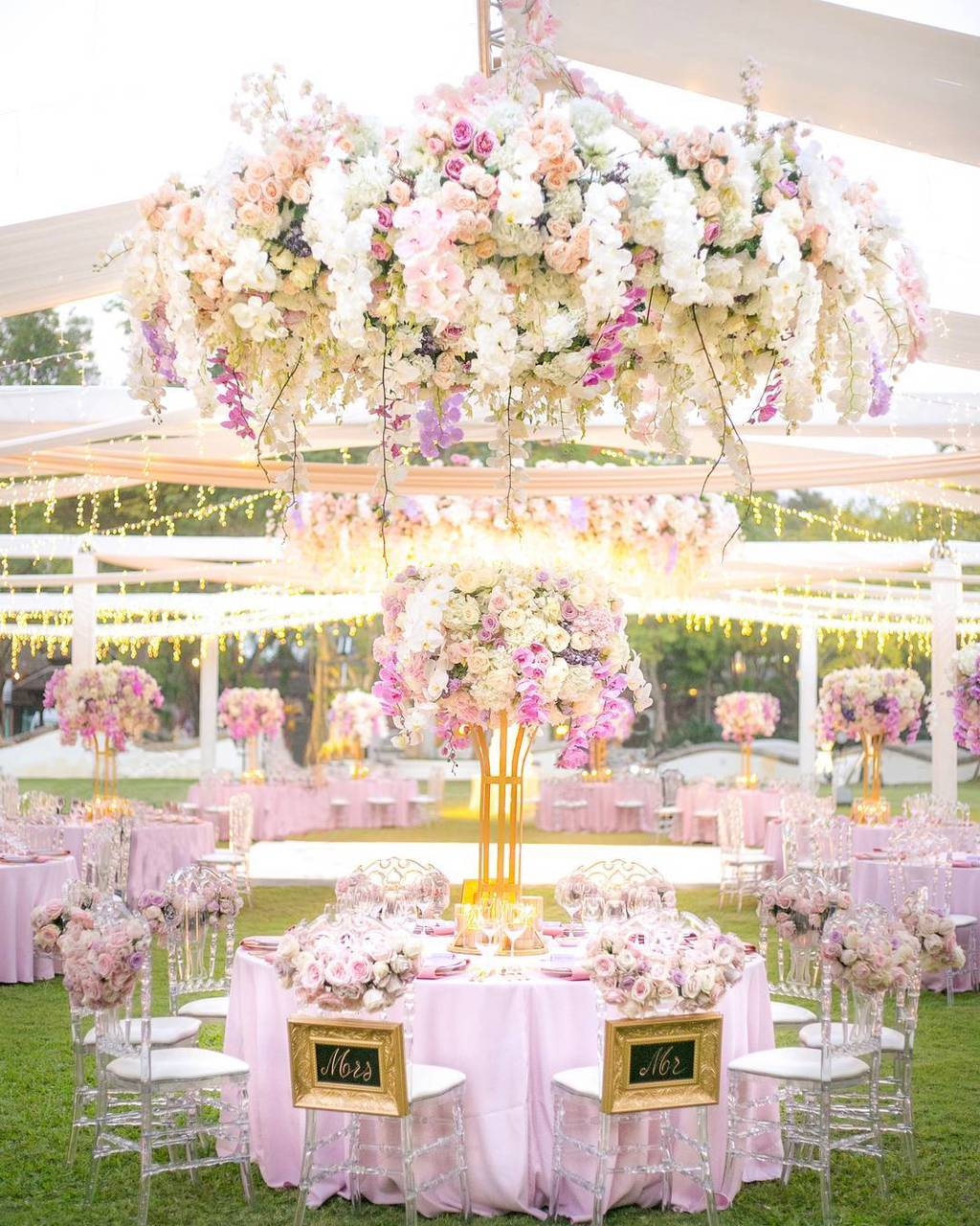 pink floral wedding design ideas