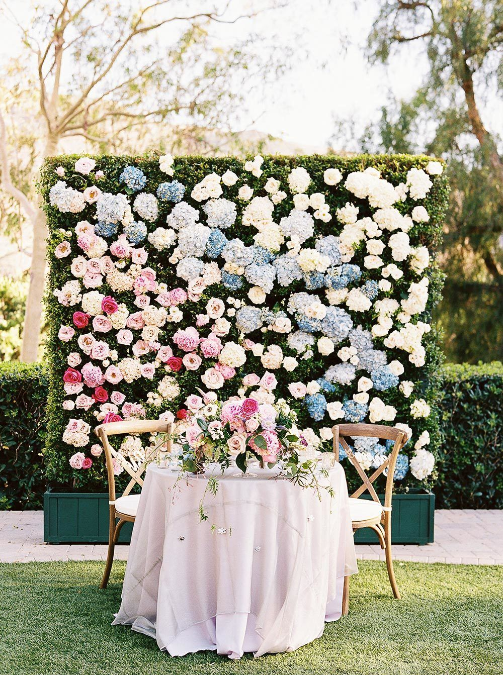 Flower Wall Wedding Stage Backdrop