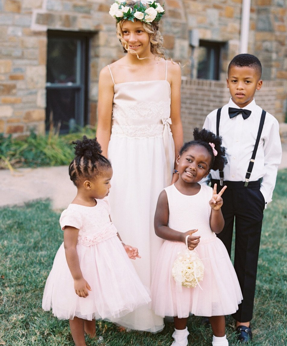 soft pink flower girl dresses
