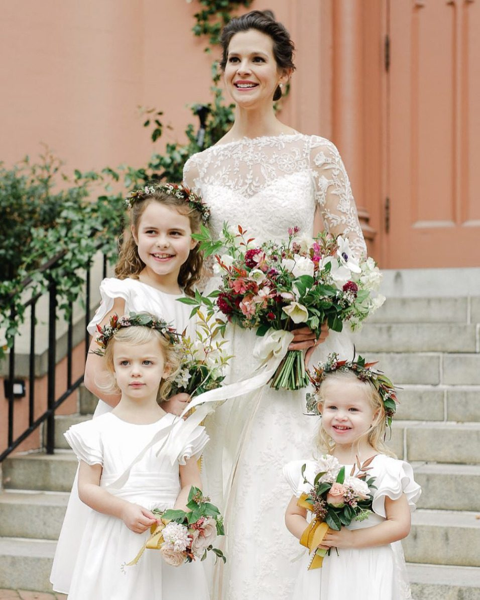 fine art flower girl dresses with puffy sleeves