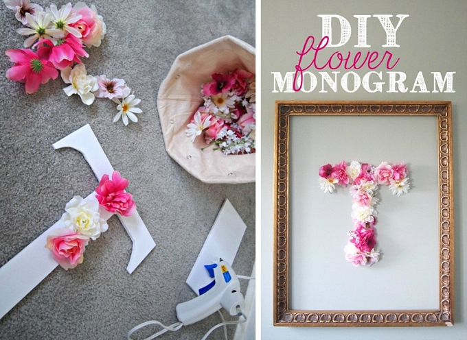 14 Outstanding DIY Monogram Letters
