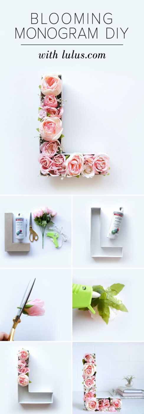 DIY Blooming Monogram With Gorgeous Flowers