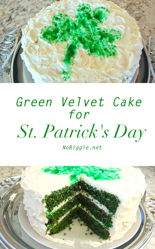 Green Velvet Cake | 25+ St. Patrick's Day ideas