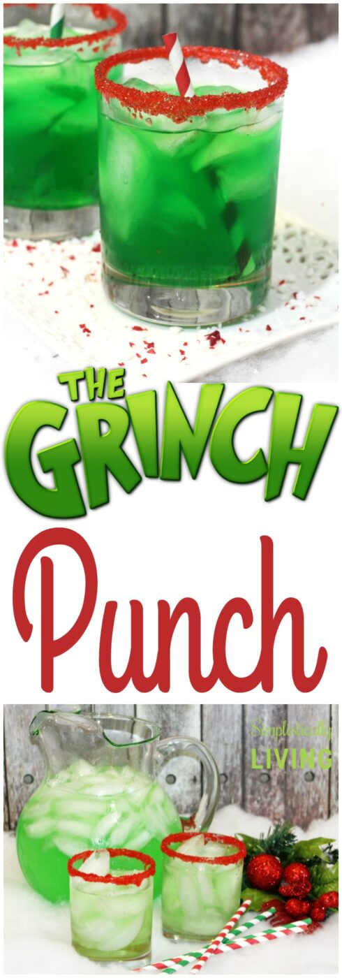 grinch punch drink | 25+ Grinch crafts and cute treats