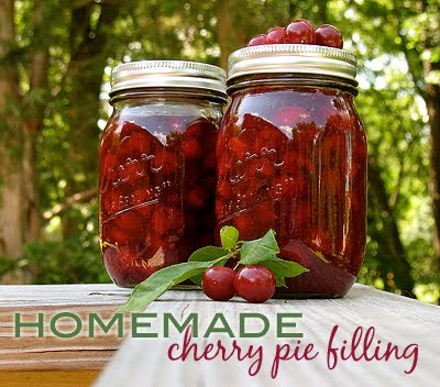 homemade cherry pie filling | 25+ Canning Recipes