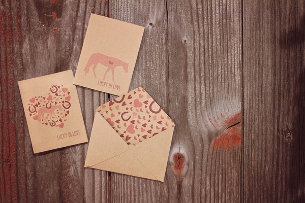 kraft paper tags lucky you | 18+ Kraft Paper Valentines