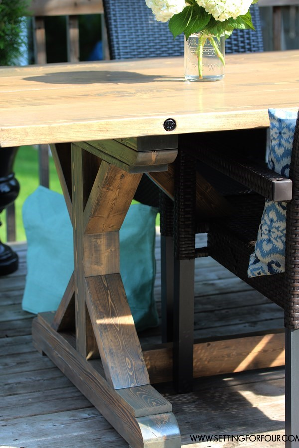 How to Make a Farmhouse Table for less than $200.00!