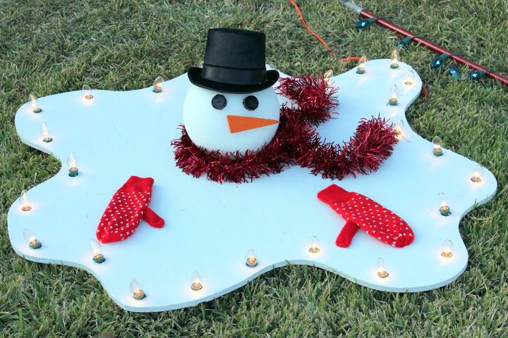 melted frosty the snowman