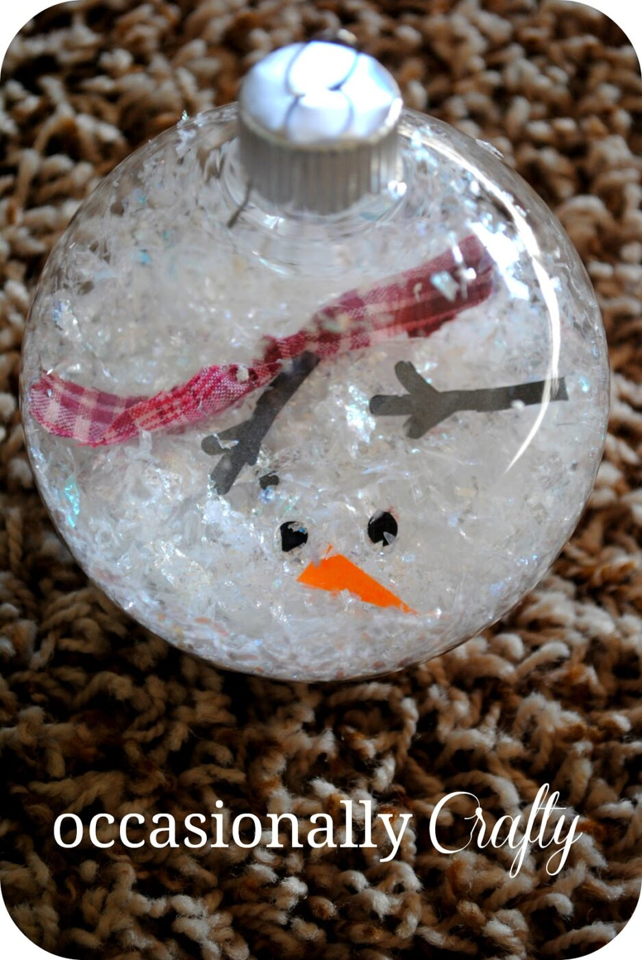 melted snowman ornament | +25 Beautiful Handmade Ornaments