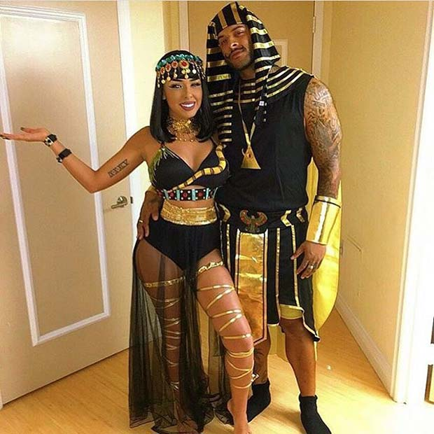 Ancient Egyptian Couple for Halloween Costume Ideas for Couples
