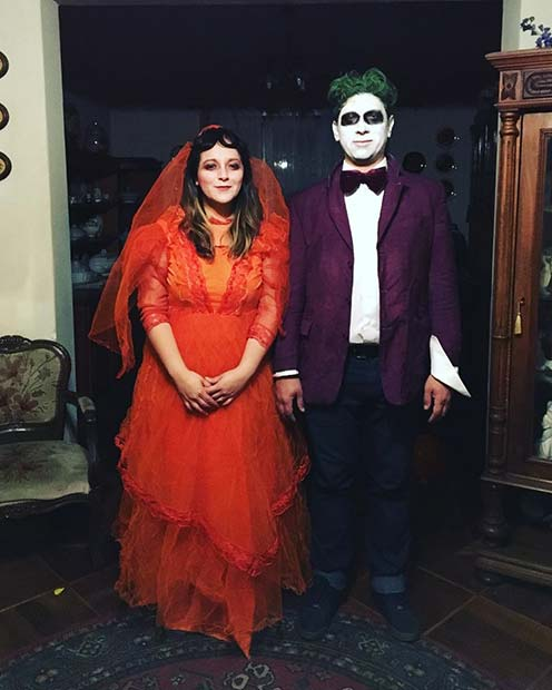 Beetlejuice and Lydia for Halloween Costume Ideas for Couples
