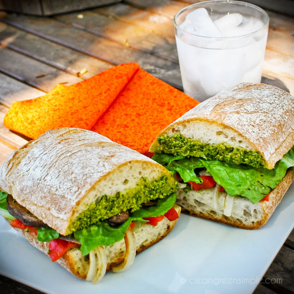 Vegan Pesto & Red Pepper Sandwich