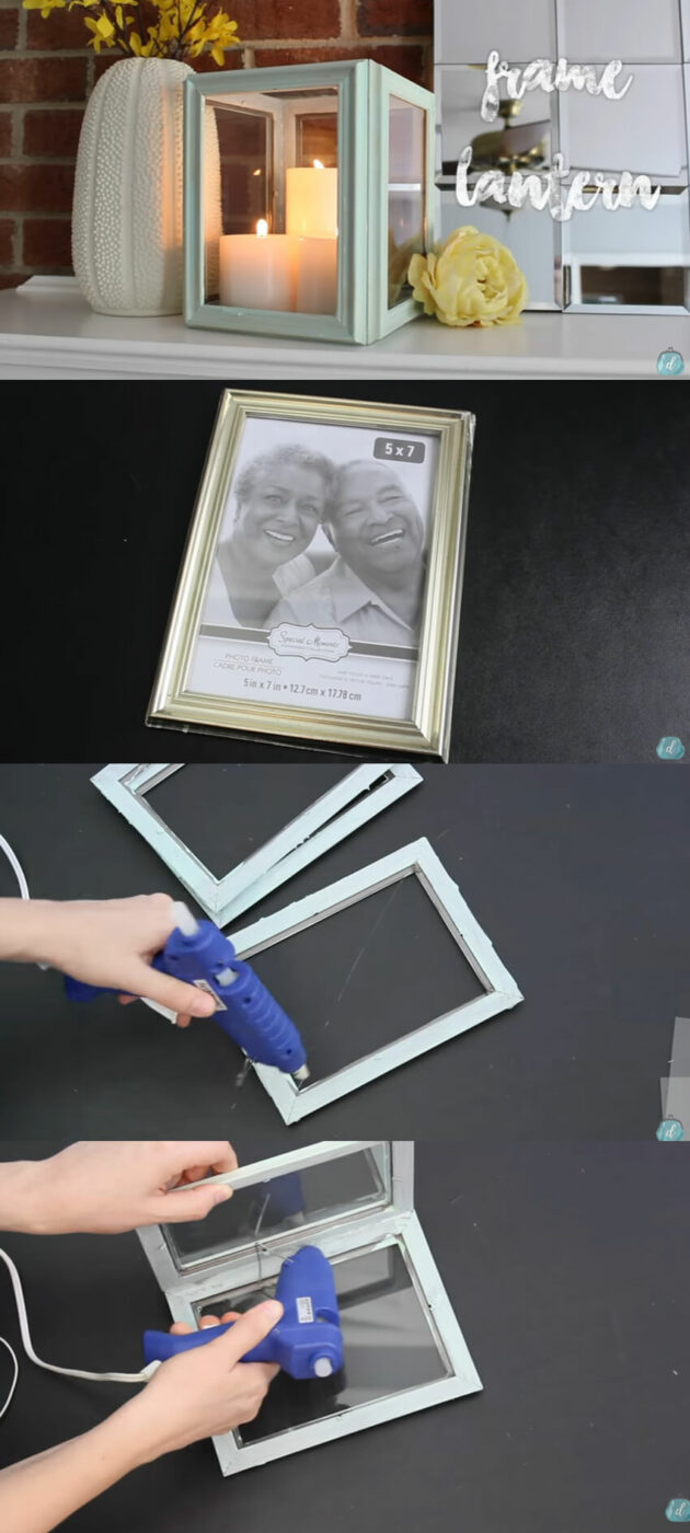 DIY Picture Frame Candle Box