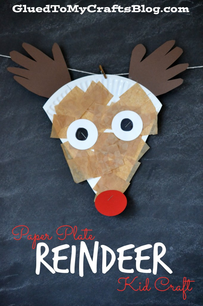 reindeer paper plate craft | 25+ Rudolph crafts, gifts and treats | NoBiggie.net