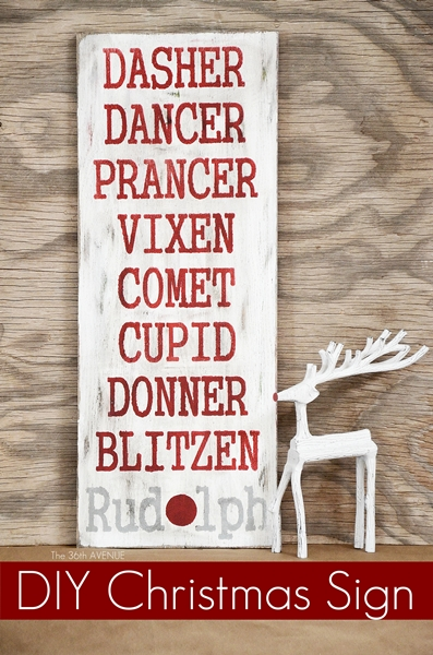 reindeer sign | 25+ Rudolph crafts, gifts and treats | NoBiggie.net