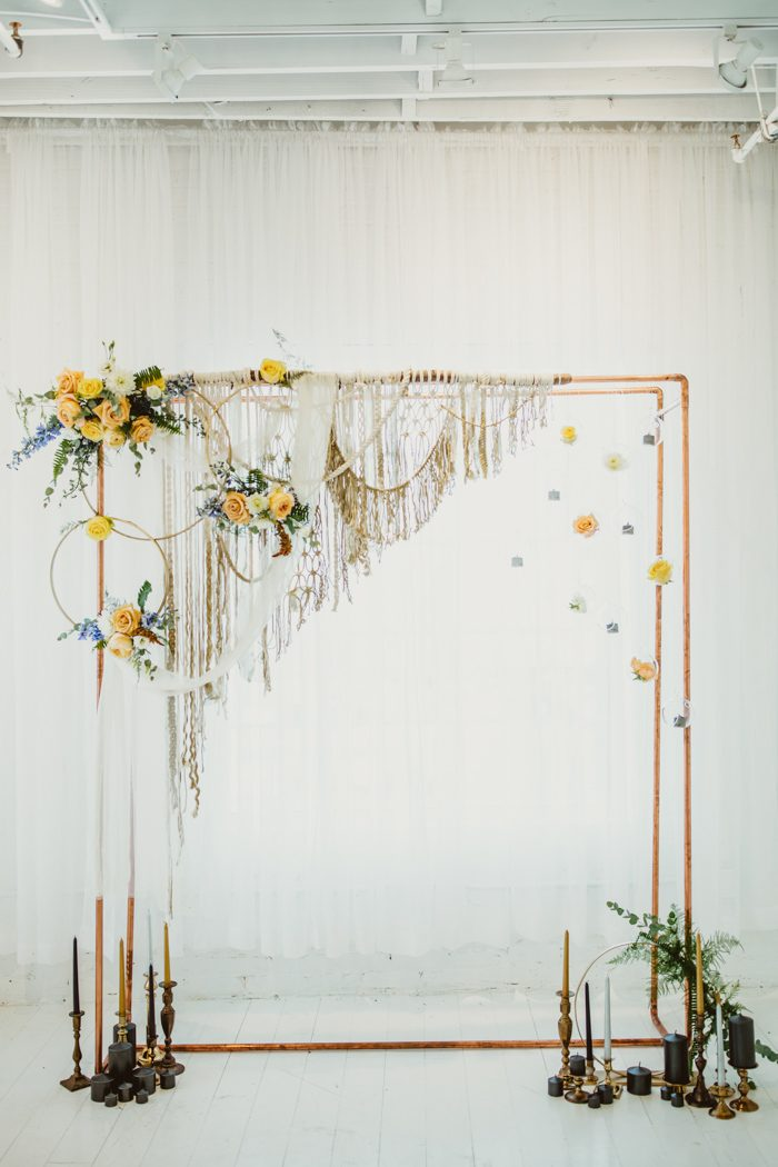 Ideas for COPPER PIPES Wedding Ceremony Arches - WREATHS Wedding Ceremony Arches, Wedding Arches, COPPER PIPES Wedding Ceremony Arches