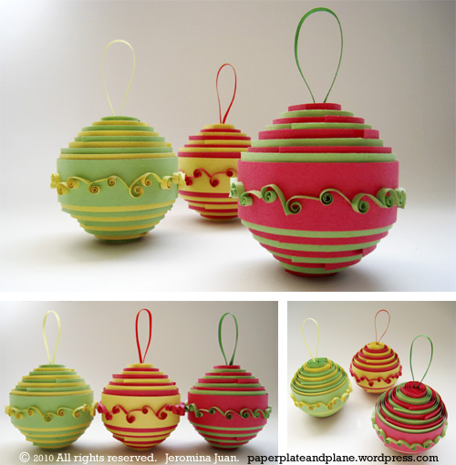 rolled-paper ornaments | +25 Beautiful Handmade Ornaments