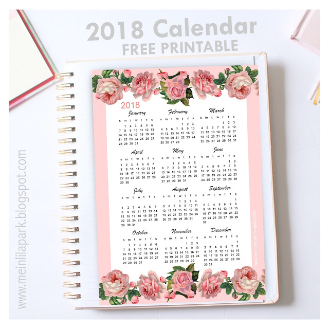 16 DIY Organization Projects: 2018 Free Printable Calendars (Part 1) - Free Printable Calendars, diy organization projects, DIY Organization Ideas, 2018 Free Printable Calendars