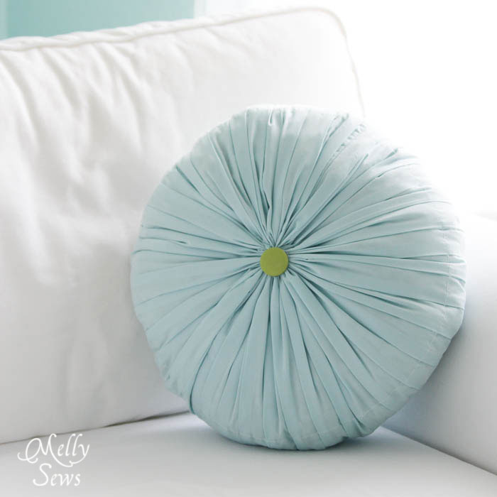 Round Pleated DIY Pillows