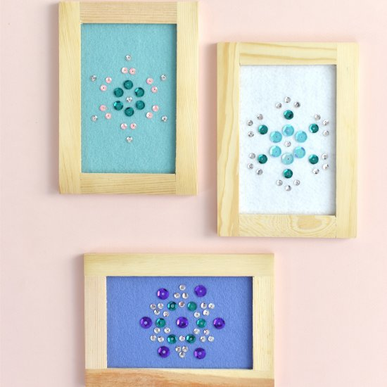 Sequin snowflake art