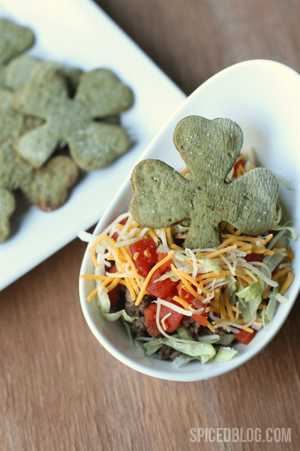 Shamrock tortillas | Top 50 St. Patrick's Day Green Food - have fun with St. Patrick's Day and surprise your family and friends with these fun, festive green recipes!