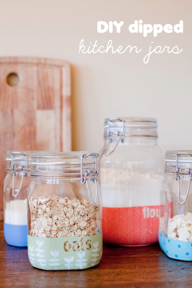 Dipped Kitchen Jars