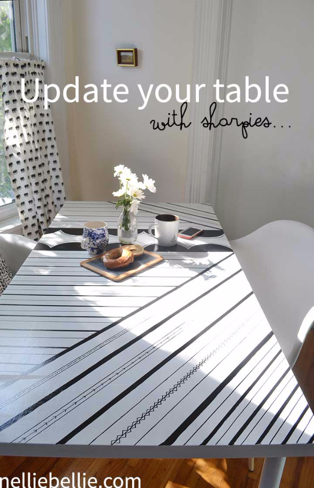 Sharpie Craft Ideas Upgrade Table
