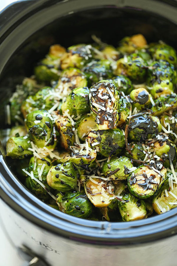 Slow Cooker Balsamic Brussels Sprouts | 25+ Brussels Sprout Recipes