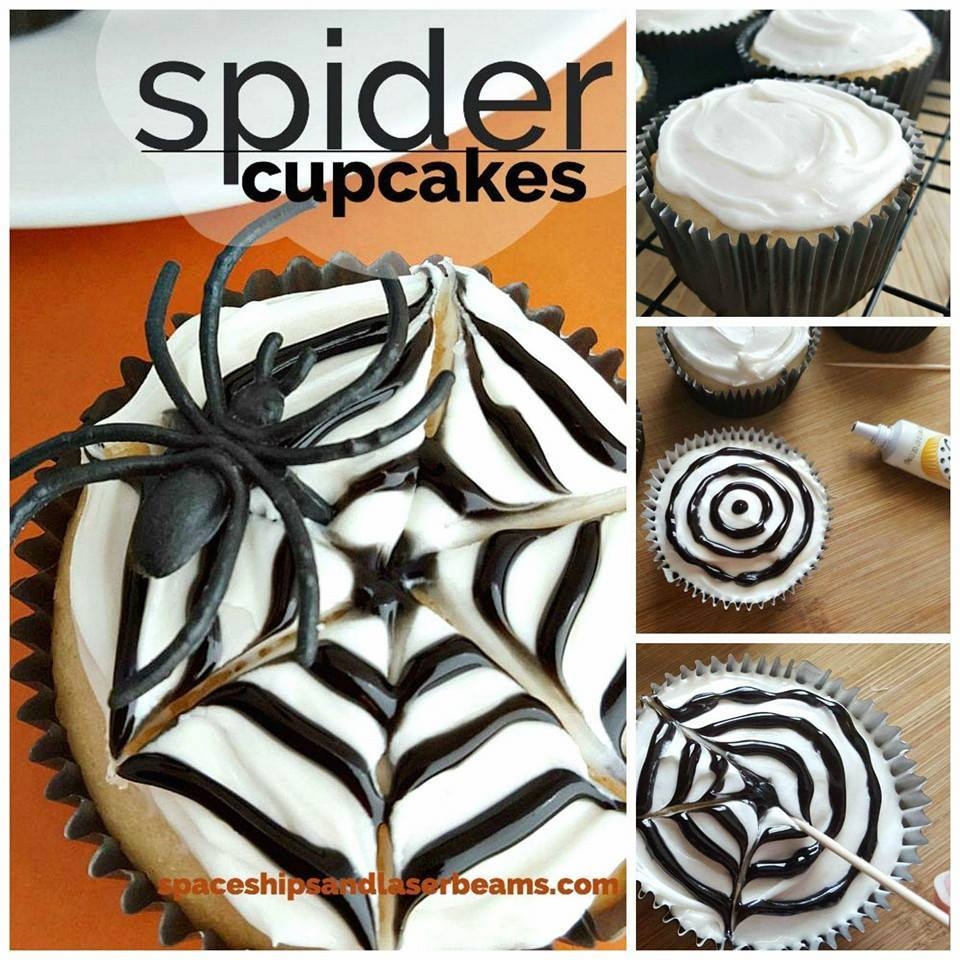 spider cupcakes | 25+ Halloween Party Food Ideas
