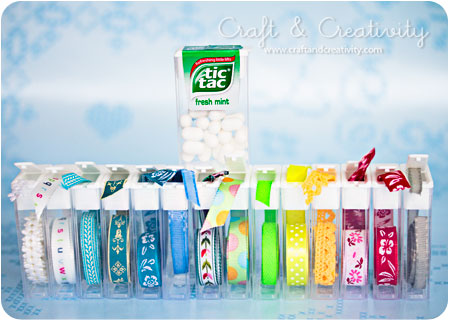 Tic Tac Ribbon Storage