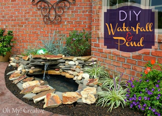 40+ Creative DIY Water Features For Your Garden --> DIY Backyard Pond and Landscape Water Feature