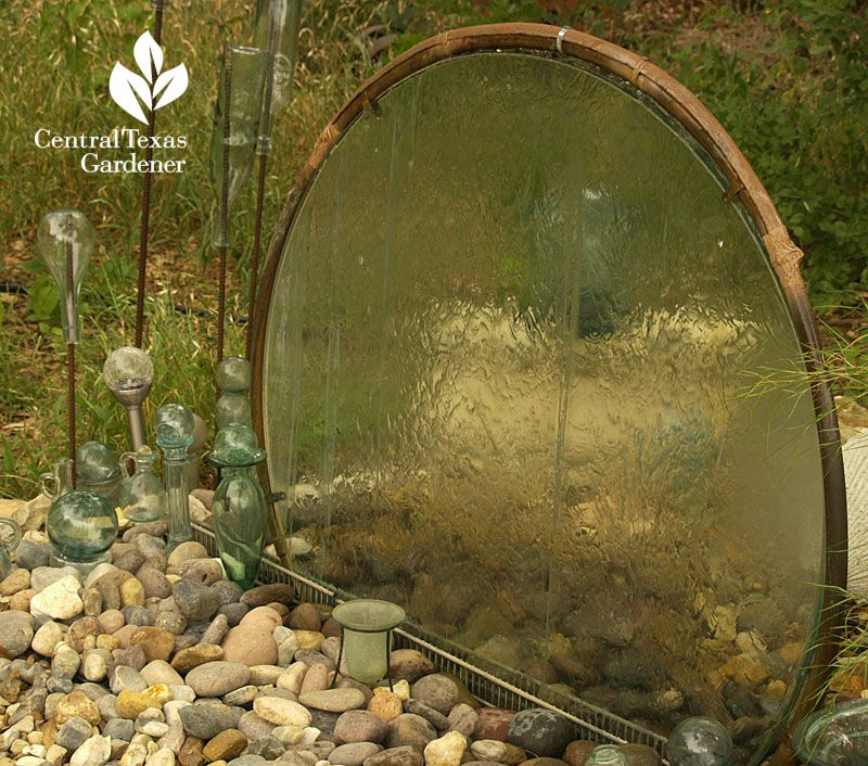 40+ Creative DIY Water Features For Your Garden --> Recycle a glass table top into water wall