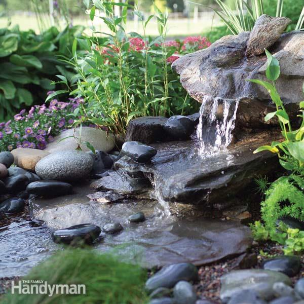 40+ Creative DIY Water Features For Your Garden --> How to Build a Low-Maintenance Water Feature
