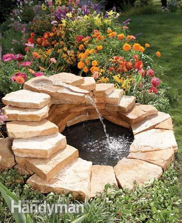 40+ Creative DIY Water Features For Your Garden --> How to Build a Concrete Fountain