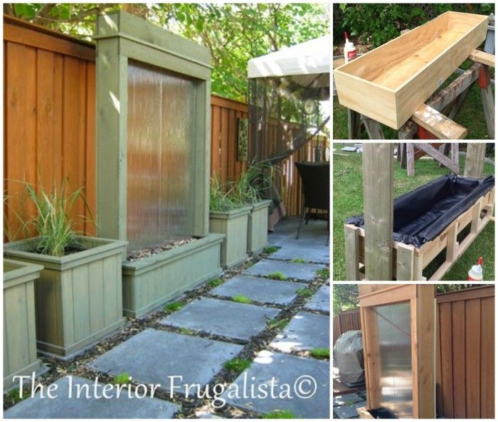 40+ Creative DIY Water Features For Your Garden --> DIY Patio Water Wall