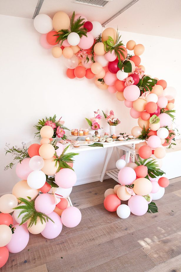 Wedding balloon installation - Photographer: Kayla Plouffe