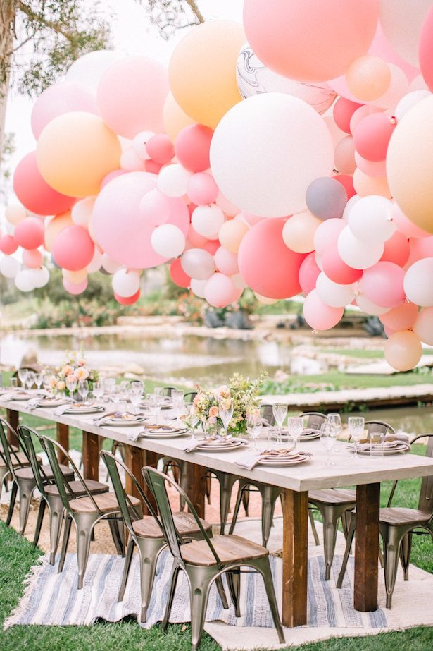 Wedding balloon installation - Allie Lindsey Photography