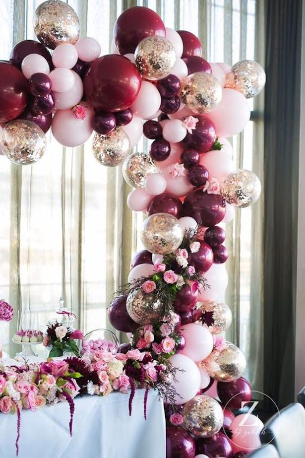 Wedding balloon installation - Photography: Z by Zahrah