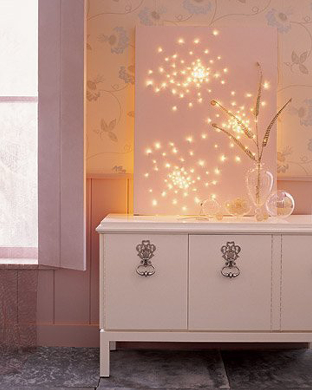 String Light DIY ideas for Cool Home Decor | Glittery Lights are Fun for Teens Room, Dorm, Apartment or Home | http://diyprojectsforteens.com/diy-string-light-ideas/