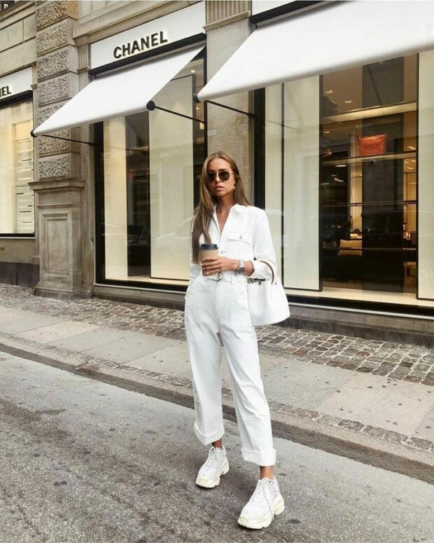 Color of The Season- White: 13 Stylish Spring Outfit Ideas (Part 2) - white outfit, spring outfit ideas, spring fashion trend, all white