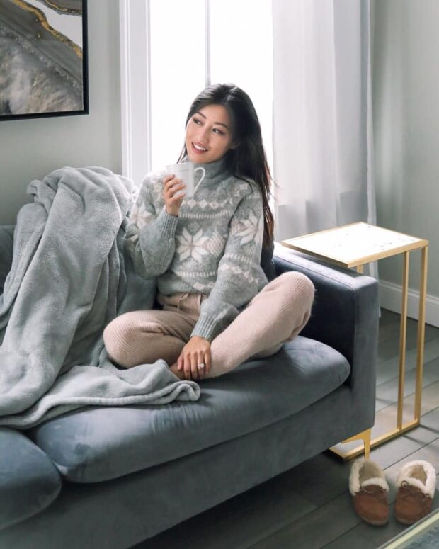 Stay Home and Stay Stylish: Cozy Sweater for Chilly Spring Weather