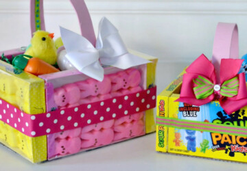15 Cute and Creative DIY Easter Basket Ideas - DIY Easter ideas, DIY Easter Basket Ideas, DIY Easter Basket, DIY Easter and Spring Decor ideas, diy Easter