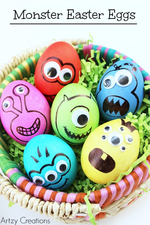Easter Eggs Decor 2020: 15 Creative Easter Egg Decorating Ideas to Try This Year (Part 5) - diy Easter eggs decoration, DIY Easter Egg Decorating Ideas, DIY Easter Egg