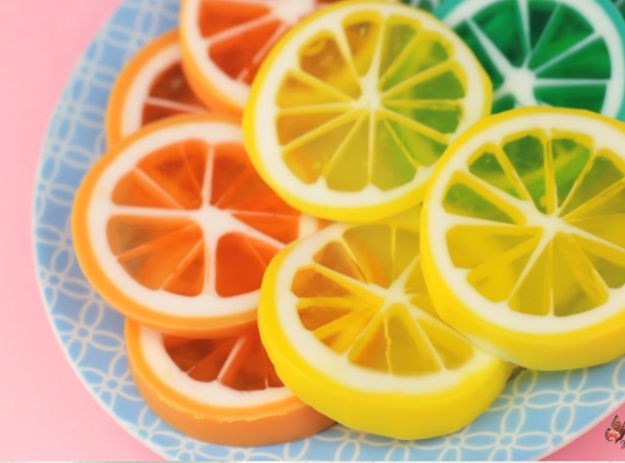 Soap Recipes DIY - Lemon Slice Handmade Soap - DIY Soap Recipe Ideas - Best Soap Tutorials for Soap Making Without Lye - Easy Cold Process Melt and Pour Tips for Beginners - Crockpot, Essential Oils, Homemade Natural Soaps and Products - Creative Crafts and DIY for Teens, Kids and Adults http://diyprojectsforteens.com/cool-soap-recipes